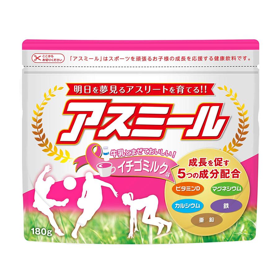 Sữa ASUMIRU ( Vị Dâu sữa) – Sữa tăng trưởng chiều cao Asumiru Nhật Bản 3 -16 tuổi