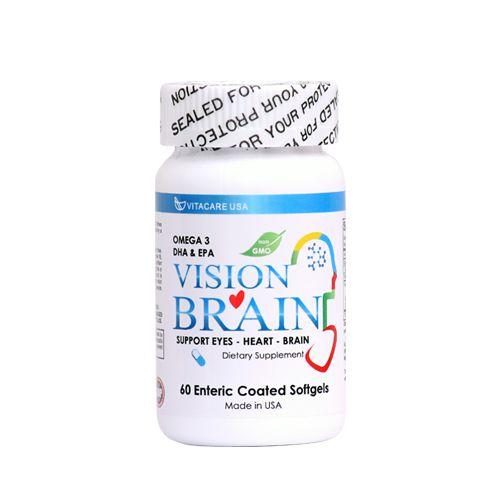 Vision Brain được sản xuất đặc biệt với lớp vỏ chỉ tan trong ruột giúp cơ thể hấp thu dinh dưỡng được tối đa