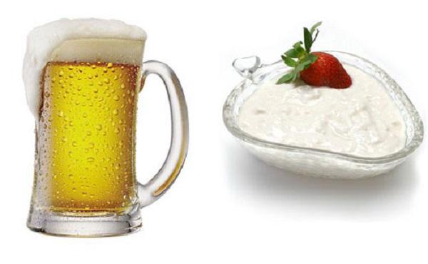 Làm trắng da bằng bia và sữa chua