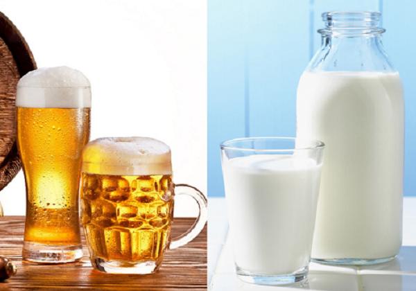 Làm trắng da bằng bia và sữa tươi