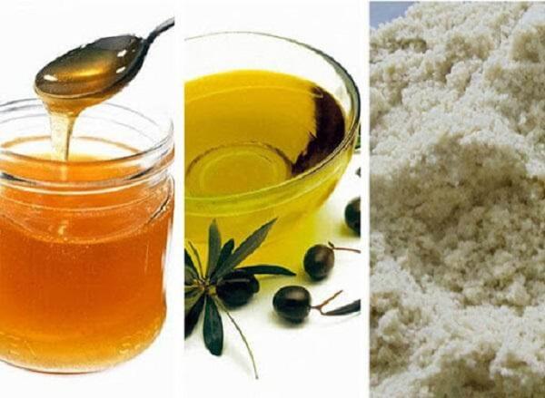 Làm trắng da bằng nước vo gạo, dầu oliu và cám gạo