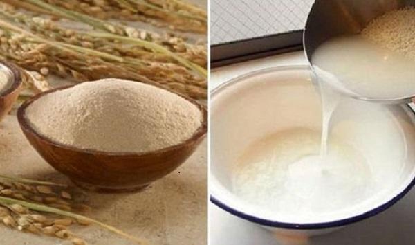 Làm trằng da bằng nước vo gạo kết hợp bột mì