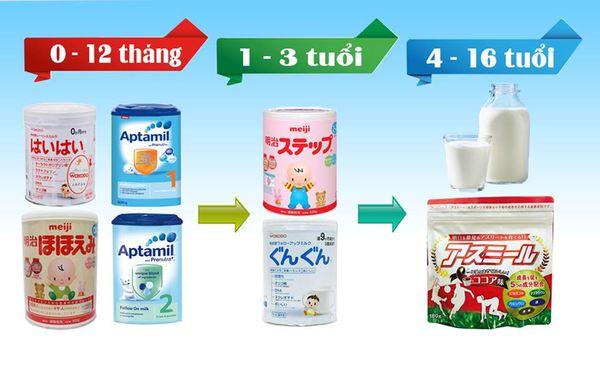 Sữa Nhật cho bé 7 tuổi tốt nhất hiện nay