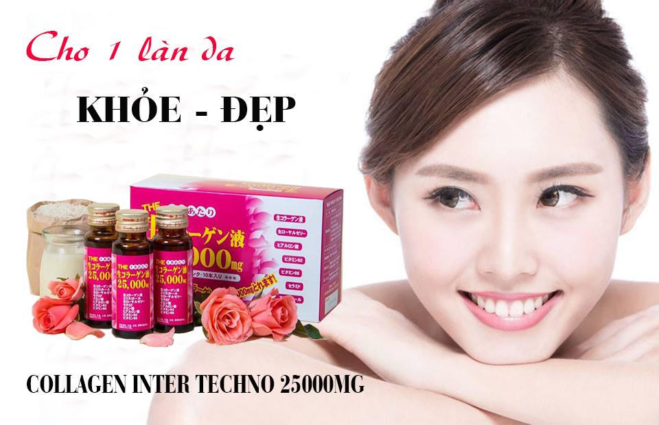 Collagen Inter Techno 25.000mg Nhật Bản có tốt không? Giá bán bao nhiêu tiền?