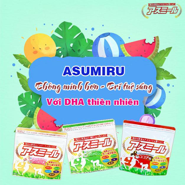 Sữa Asumiru bổ sung DHA cho trẻ từ 3 tuổi